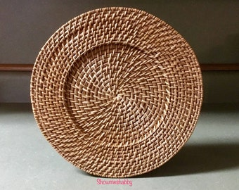 Plate Chargers Sweetgrass Thick U0026 Sturdy Plate Holders / Holder For Plates  / Charger Mats PlateMat