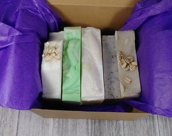 Gorgeous Box of Soap! Random Assortment of 5 Different Soaps // Organic // Cold Process