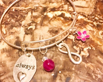 Snape Always Bracelet, Bangle, After all this Time, Harry Potter Jewelry, Expandable Bangle, Infinity Bracelet, Deathly Hallows