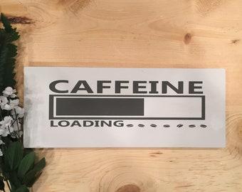 Wood Sign | Hand Painted Sign | Coffee | Caffeine | Housewarming Gift