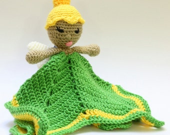 Crochet Tinkerbell Security Blanket