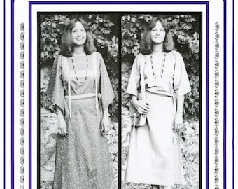 Women's Plains Indian Cloth Dress sizes 8-20 with Variations - Eagle's View Sewing Pattern # 76- Native American