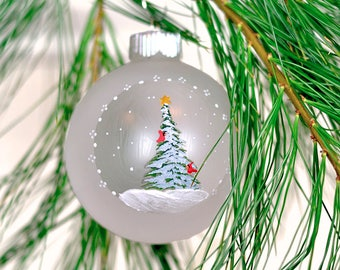 Cardinal Christmas ornament gift under 25 farmhouse Christmas tree ornament whimsical ornament Christmas pine tree ornament