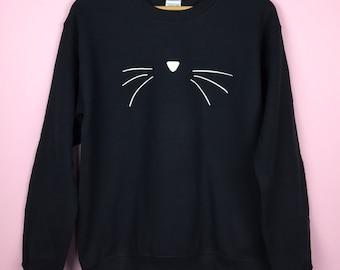 Cat Sweatshirt. Cat Face Sweater. Cat face shirt. Cat Face Sweatshirt. Cat Lover Gift. Cat Shirt. Cat Face Shirt. Cat Sweatshirt. Cat Shirt.