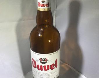 Bière de papier étiquette duvel bouteille 750ml