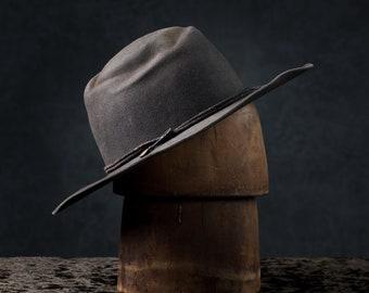 Handmade luxury wide brim fedora / futuristic cowboy hat