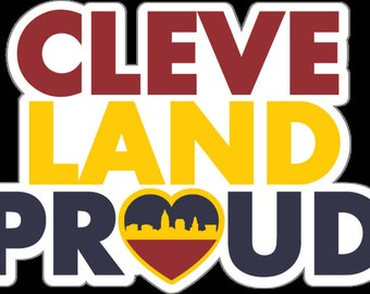 "Cleveland Proud 5"" Wide Cavs Decal"