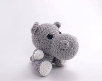 PATTERN: Hailey the Hippo - Crochet hippo pattern - amigurumi hippo pattern - crocheted hippopotamus pattern - PDF crochet pattern