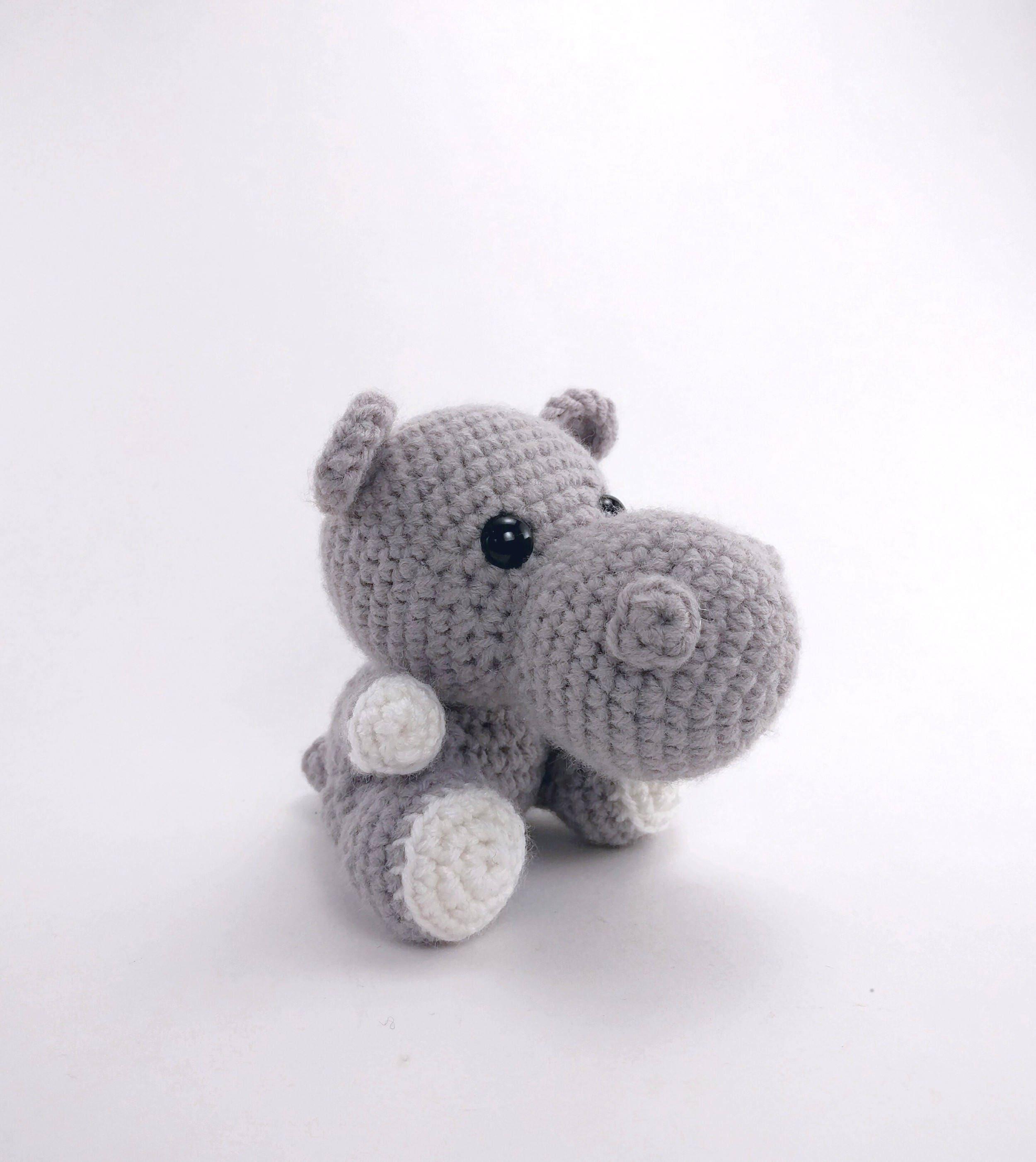 PATTERN: Hailey the Hippo Crochet hippo pattern amigurumi