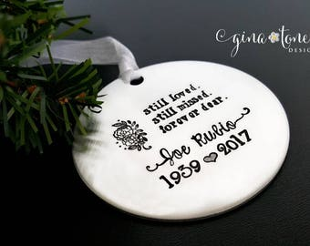 Memorial Ornament, Personalized Christmas Ornament, In Memory of Ornament, Memorial Gift, Remembrance Gift, Bereavement Gift, Sympathy Gift