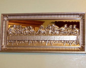 Listing 262 is a vintage Lords last supper mirror