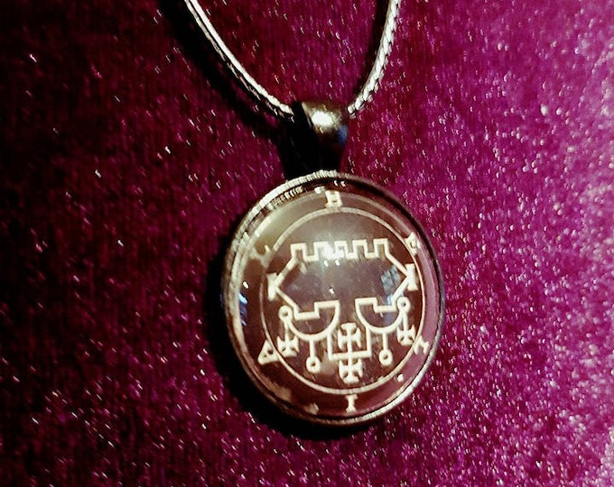 Sigil of Belial Necklace - occult left hand path demonic demon goetic goetia goth gothic