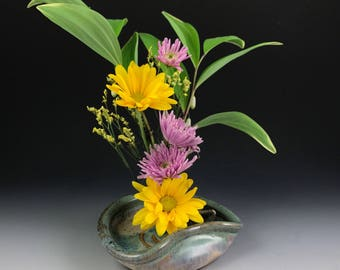 Flower Dish - Ikebana Flower Dish - Flower Tray - Ikebana Flower Vase - Handmade Stoneware Flower Dish