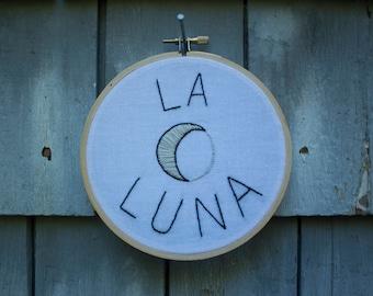 """La Luna 5"""" embroidery"""