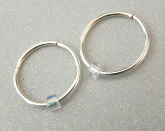 Tiny Hoop Earrings - Small Hoop Earrings - unique hoops - cool earrings