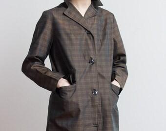 1950s Plaid Cotton Jacket
