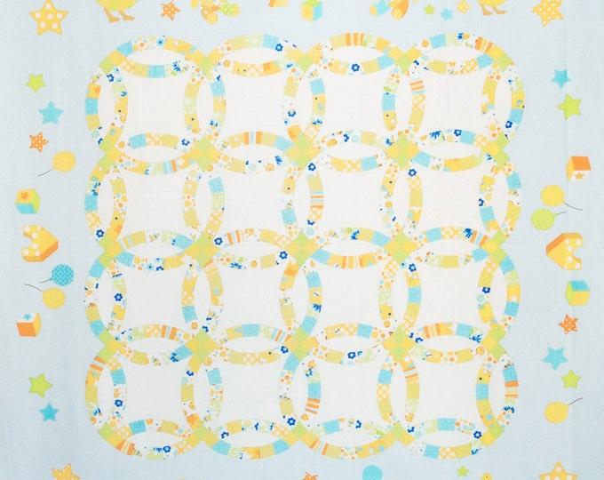 Baby Quilt Panel - Quilter's First  by LECIEN - L31229-70 Blue - 1 Panel