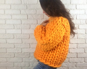 43 colors! Chunky knit sweater, super chunky sweater, oversized sweater, bulky sweater, wool sweater, Women's sweater, Winter sweater