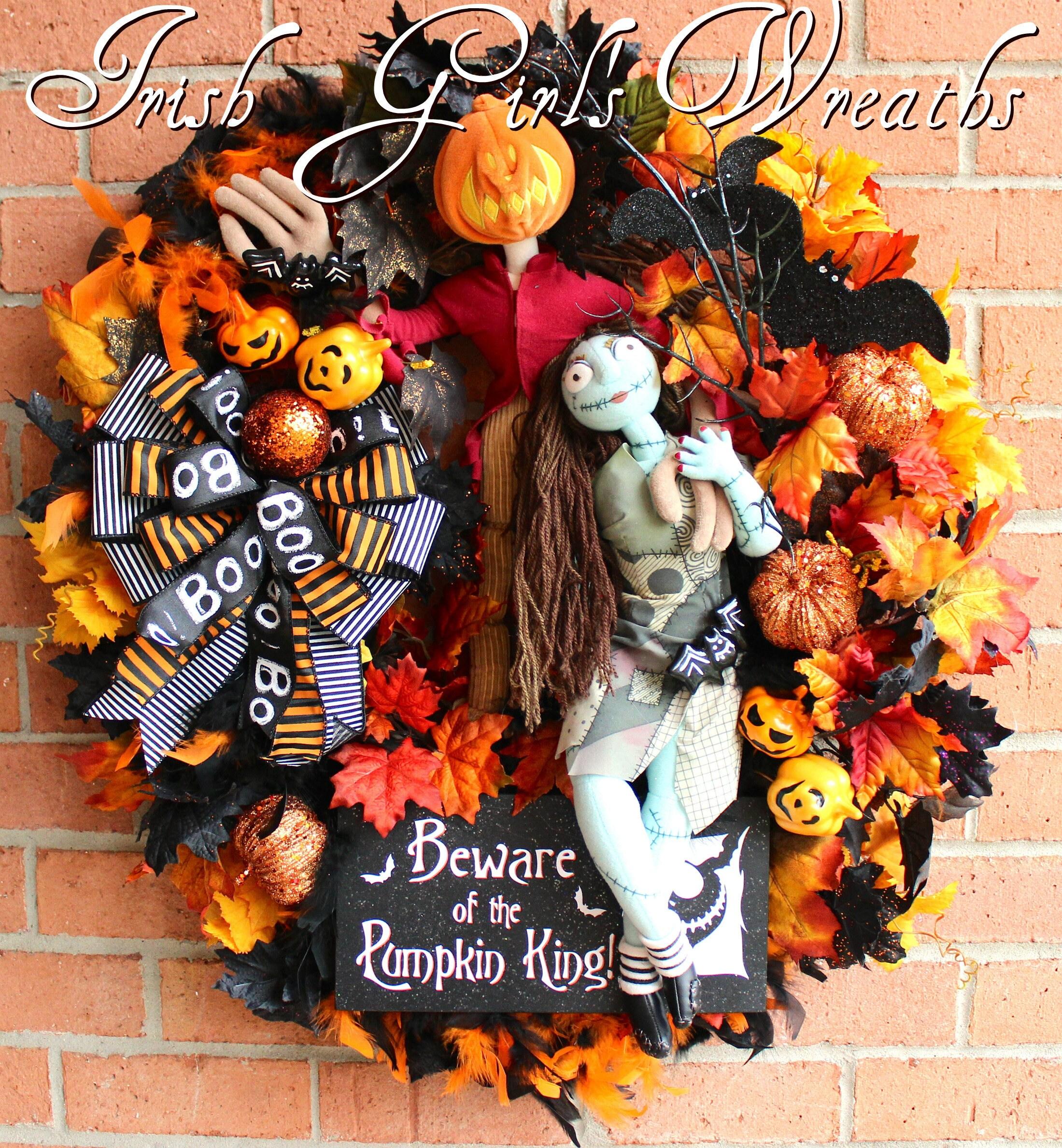 Pumpkin King Wreath Nightmare Before Christmas Wreath Jack