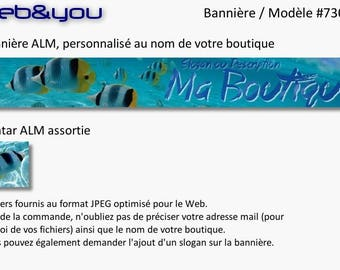 Banner and avatar 'Blue Lagoon' for shop