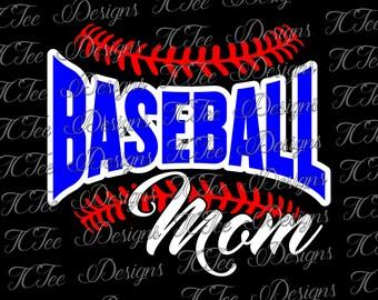 Baseball Mom - Baseball Mom SVG Design Download - Vector Cut File