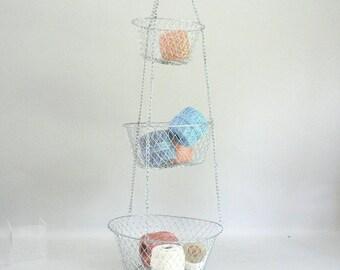 Wire Hanging Basket Three Tier