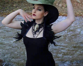 The Sage Witch or Wizard ~ Sage Suede Witch or Wizard Hat