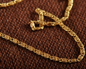 Gorgeous 18k Gold Wheat Chain