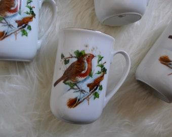 Five Bird Mugs