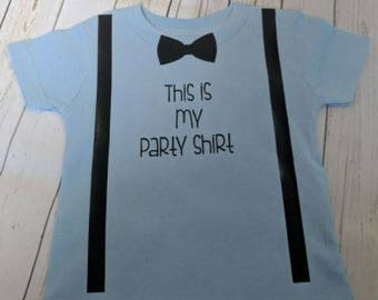 This is my party shirt/ birthday boy/ birthday shirt/ anchor shirt/ first birthday/ second birthday/ third birthday