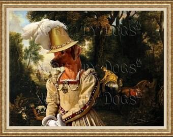 Rhodesian Ridgeback Dog Art CANVAS Print Fine Artwork  Dog Portrait Dog Painting Dog Art Dog Print