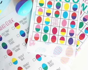 Easter Egg Bingo - Easter Party Game - Easter Bingo - Easter Egg Hunt Game - Easter Game for Kids - Easter Activity for Kids