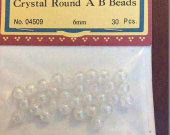 Darice Crystal Round AB Beads Pack of 30