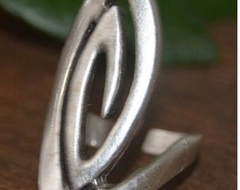 Sheild Of Sheilds adjustable ring silver plated