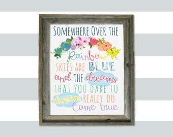 Somewhere Over the Rainbow 8x10 Print