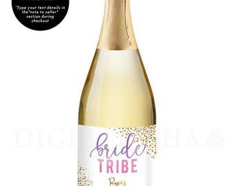 Bridesmaid Gift CHAMPAGNE LABEL Bachelorette Party Bride Tribe Bridal Party Gift Bride Tribe Party Gift Bachelorette Gift Bridesmaid - Rosie