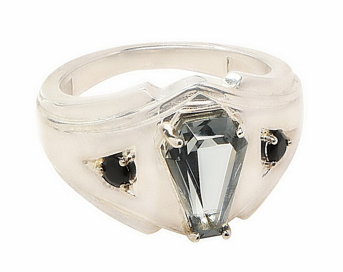 Coffin Gems® - 3CT MENS ACCENT RING