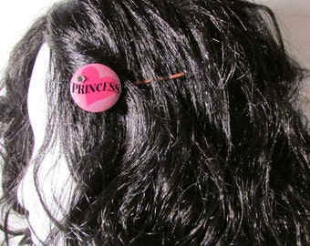 Pink Hair Pin Princess Metal Button Jewelry Copper Bobby Pin