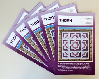 Thorn, a Printed Quilt Pattern by Quilting Jetgirl