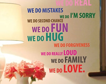 This House Family Love Self Adhensive Art Wall Quote Stickers Words Lettering