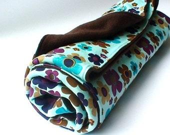 Organic cotton fleece quilted blanket