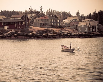 Landscape Photography - Red House, Monhegan Island, Maine -  8x12