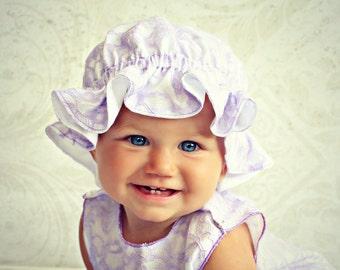 Baby Bonnet Newborn Girl Hat Bonnet  Shabby Chic Lace Baby Girl Newborn Girl Take Home Shabby Chic Bonnet Newborn  Photo Prop Hat