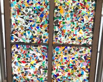 Stain Glass Mosaic Old Window Art Decoration