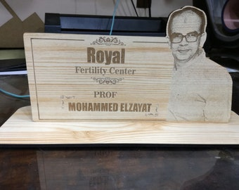Engraved photo stand