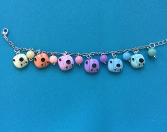 Kawaii Polaroid Rainbow Bracelet
