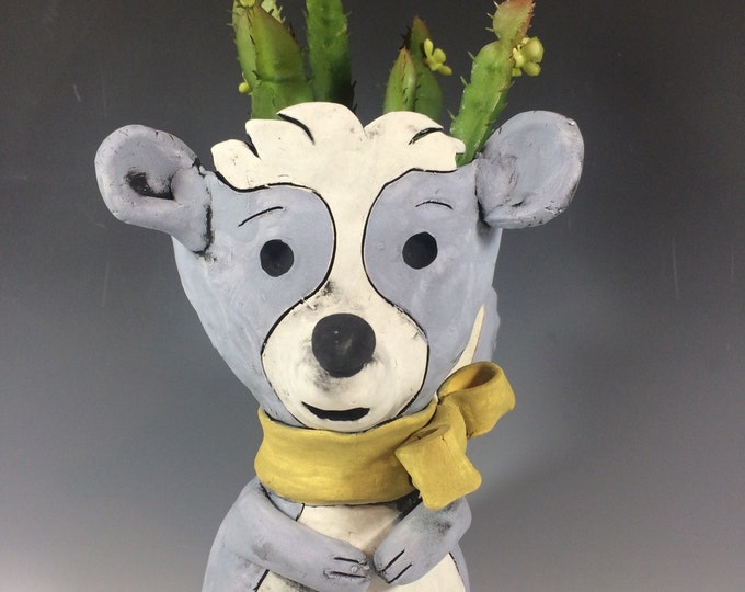 Cornflower the Skunk // Woodland // Succulent Pot // Animal Planter // Pothead // Cute // Small // Handmade // One of a kind// Planter //