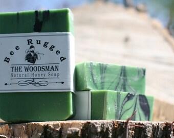 Woodsman Bar Soap || Mens Natural Cold Process Honey Soap || Lumberjack Soap