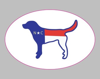 NC Dog Oval Sticker