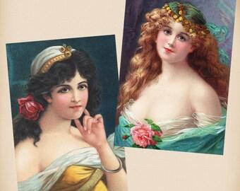 Exotic Beauty 2 New 4x6 Vintage Postcard Image Photo Prints  RA35 RA11